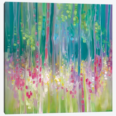 Abstract Summer Canvas Print #GBU49} by Gill Bustamante Art Print