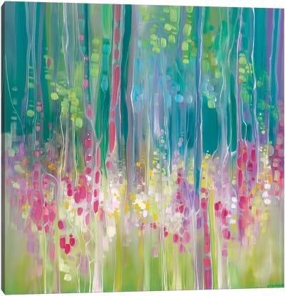 Abstract Summer Canvas Art Print