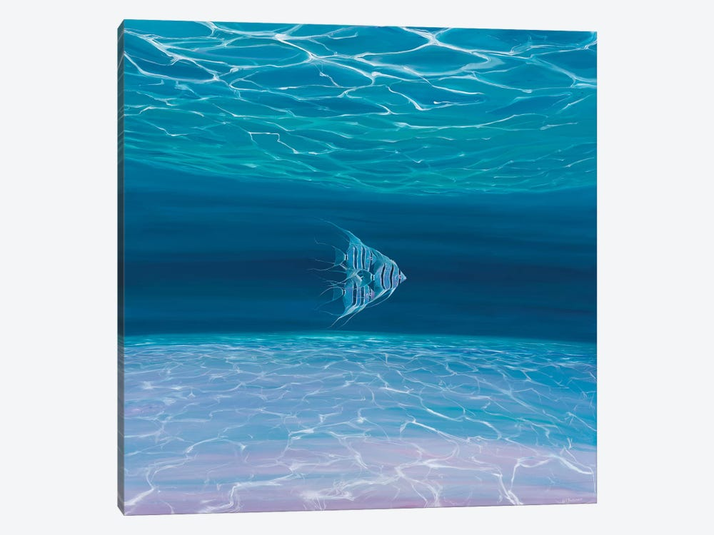 Blue Angels Blue Sea by Gill Bustamante 1-piece Canvas Art Print