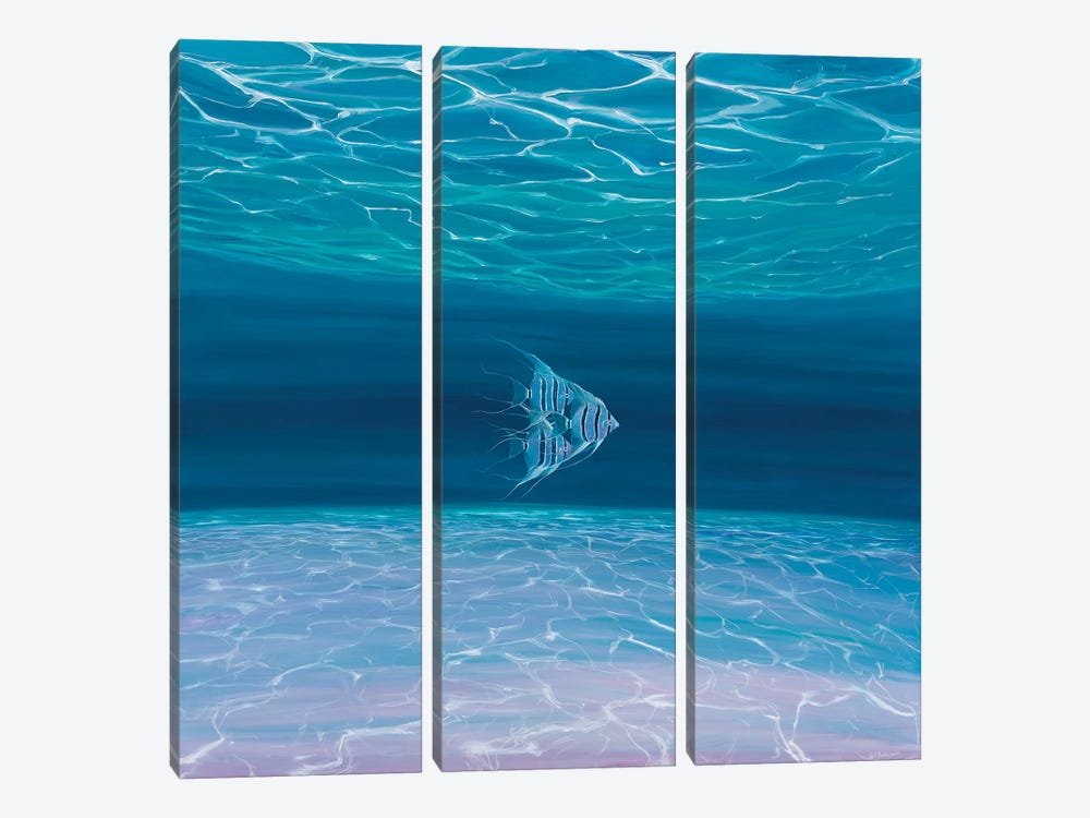 Blue Angels Blue Sea by Gill Bustamante 3-piece Canvas Print