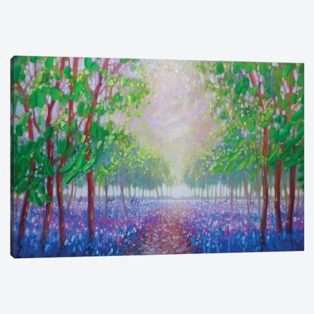 Bluebell Fields 3-Piece Canvas #GBU5} by Gill Bustamante Canvas Print