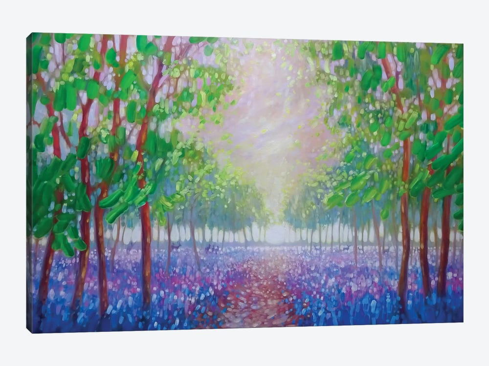 Bluebell Fields 1-piece Canvas Artwork