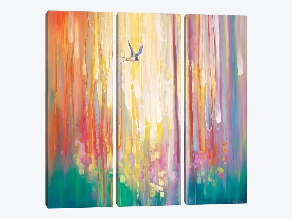 Summer Ends by Gill Bustamante 3-piece Canvas Art Print