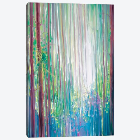The Dryads Bluebell Wood Canvas Print #GBU65} by Gill Bustamante Canvas Artwork