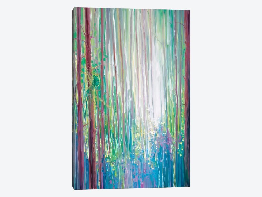 The Dryads Bluebell Wood by Gill Bustamante 1-piece Canvas Art Print