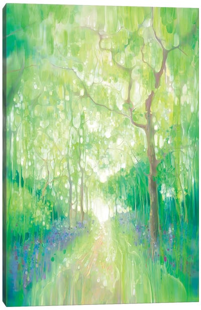 Green Forest Calling Canvas Art Print