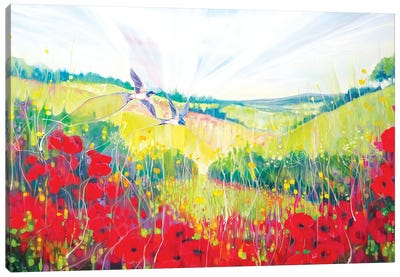 South Downs Summer Canvas Art Print