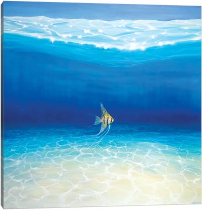 Angel Escapes To The Sea Canvas Art Print