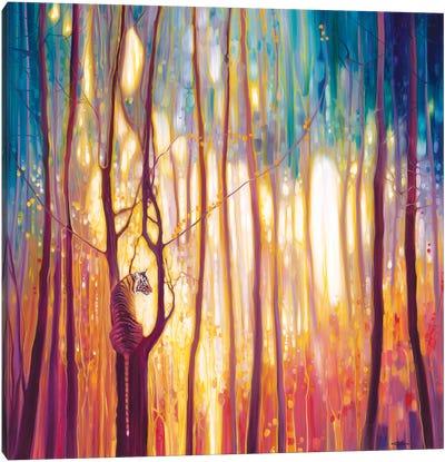 Tiger Burning Bright Canvas Art Print