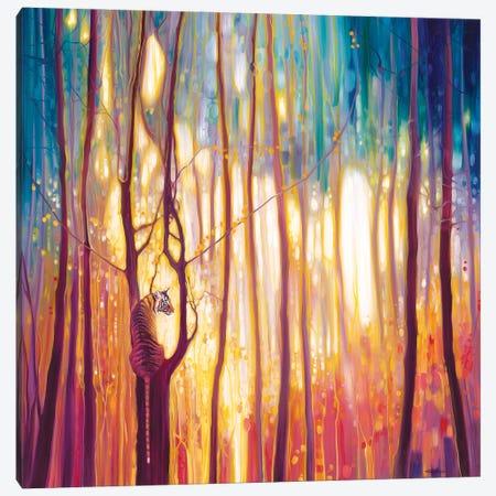 Tiger Burning Bright Canvas Print #GBU84} by Gill Bustamante Canvas Wall Art