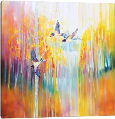 Swallow Song Canvas Art Print