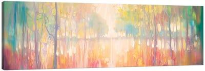 Autumn Calls, Panoramic Wide Canvas Of Lake Through Autumn Trees Canvas Art Print