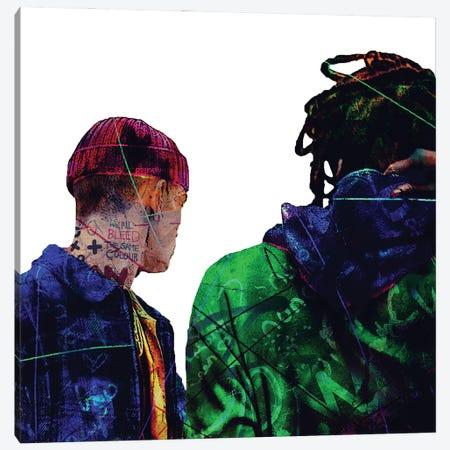 Men Street Canvas Print #GBY19} by Brysemal Canvas Artwork