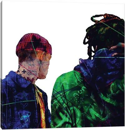 Men Street Canvas Art Print