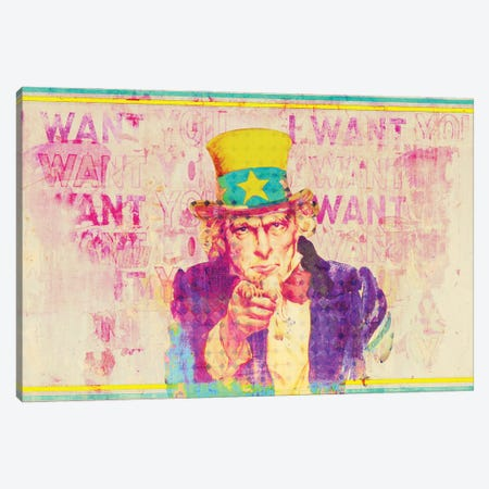 Uncle Sam Canvas Print #GBY22} by Brysemal Canvas Print