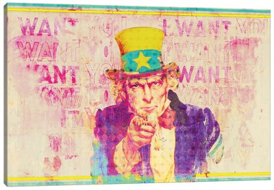 Uncle Sam Canvas Art Print