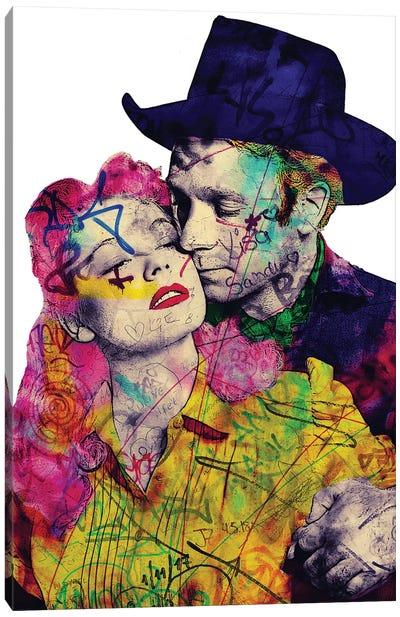 Vintage Romance X Canvas Art Print