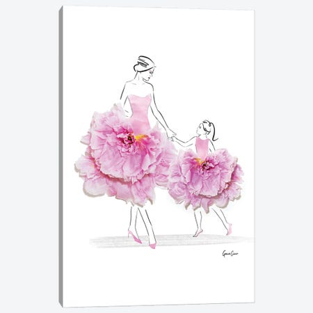 Like Mother Like Daughter 3-Piece Canvas #GCC13} by Grace Ciao Canvas Art Print