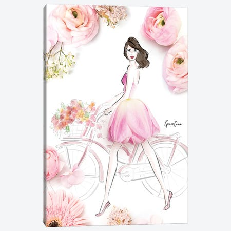 Oh Tulip! Canvas Print #GCC17} by Grace Ciao Canvas Wall Art