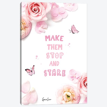 Make Them Stop And Stare Canvas Print #GCC27} by Grace Ciao Canvas Art Print