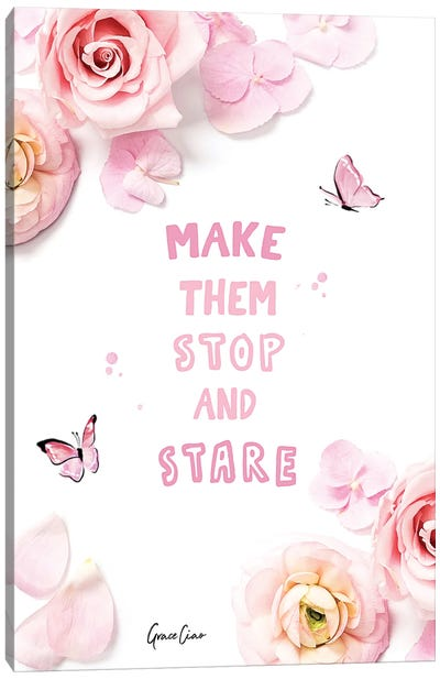 Make Them Stop And Stare Canvas Art Print