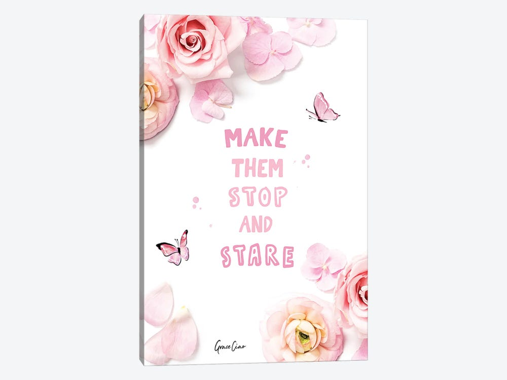 Make Them Stop And Stare by Grace Ciao 1-piece Canvas Artwork
