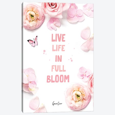 In Full Bloom Canvas Print #GCC28} by Grace Ciao Canvas Wall Art