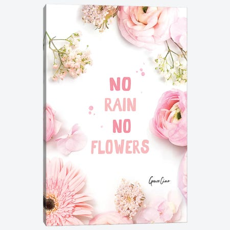 No Rain, No Flowers Canvas Print #GCC29} by Grace Ciao Canvas Wall Art