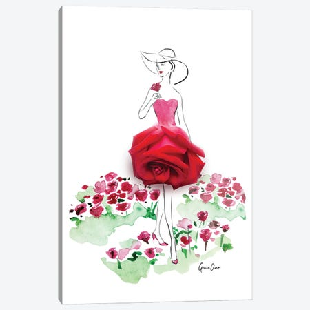 Among The Roses Canvas Print #GCC2} by Grace Ciao Canvas Artwork