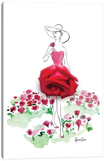Among The Roses Canvas Art Print