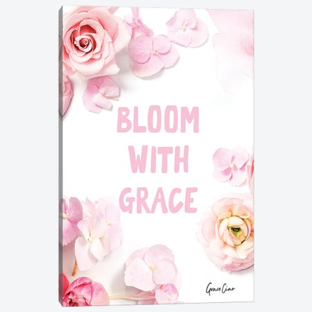 Bloom With Grace Canvas Print #GCC30} by Grace Ciao Art Print