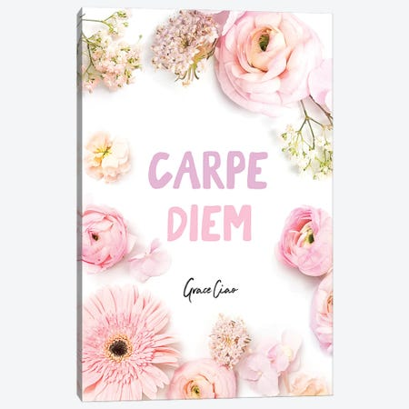 Carpe Diem Canvas Print #GCC32} by Grace Ciao Art Print