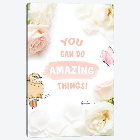 You Can Do Amazing Things Canvas Print #GCC44} by Grace Ciao Canvas Art Print