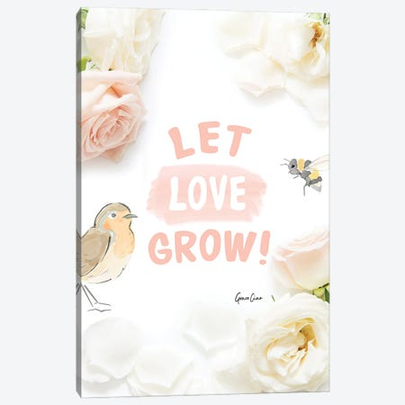 Let Love Grow Canvas Print #GCC45} by Grace Ciao Canvas Art Print