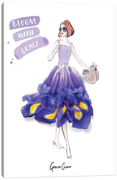Bloom With Grace Iris Canvas Art Print