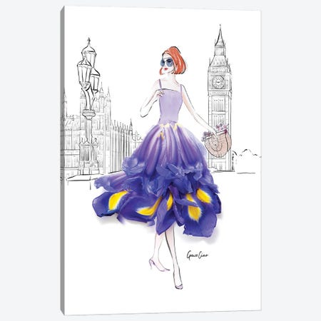 Dressed In Iris London Canvas Print #GCC7} by Grace Ciao Canvas Art Print