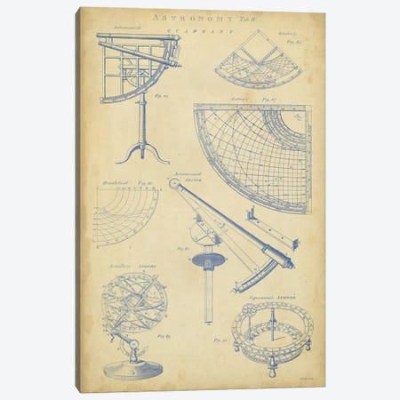 Vintage Astronomy I Canvas Print #GCH2} by George Chambers Art Print