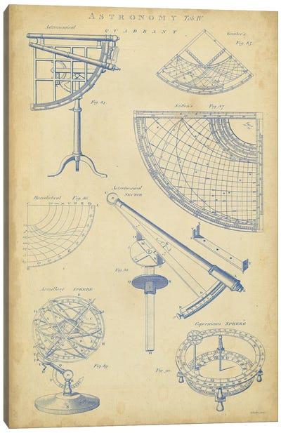 Vintage Astronomy I Canvas Art Print