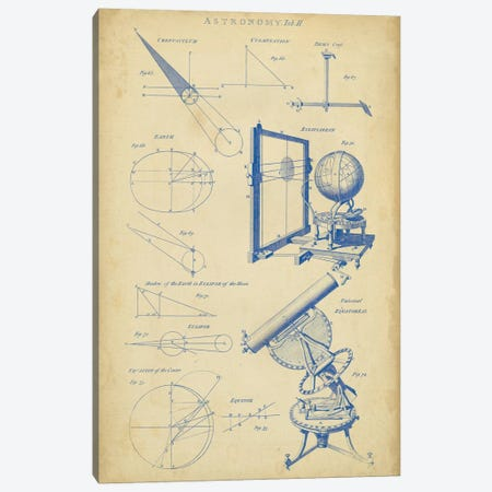Vintage Astronomy II Canvas Print #GCH3} by George Chambers Art Print