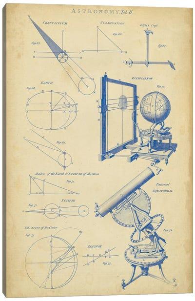 Vintage Astronomy II Canvas Art Print
