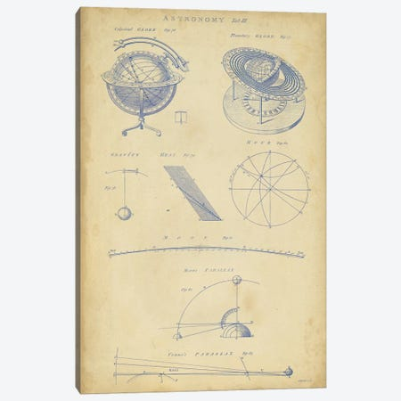 Vintage Astronomy III Canvas Print #GCH4} by George Chambers Canvas Artwork