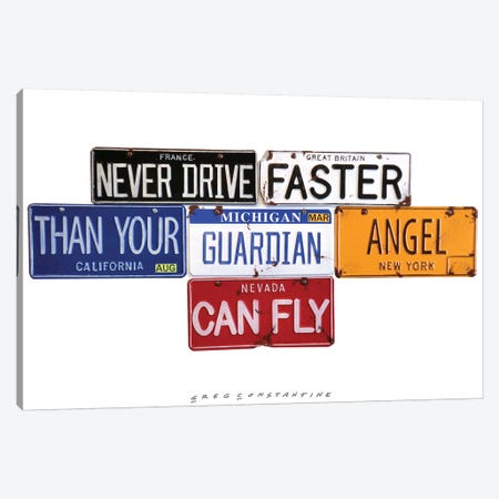 Guardian Angel 3-Piece Canvas #GCO11} by Gregory Constantine Canvas Print