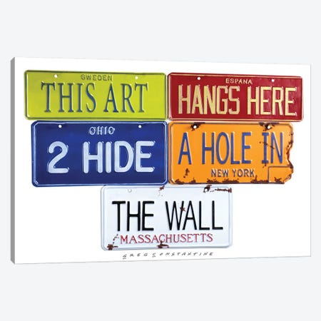 Hole In The Wall Canvas Print #GCO13} by Gregory Constantine Canvas Art Print