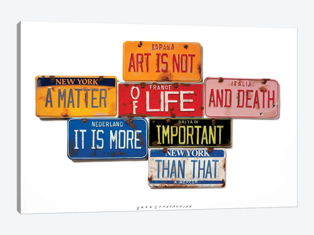 Life And Death by Gregory Constantine 1-piece Canvas Wall Art