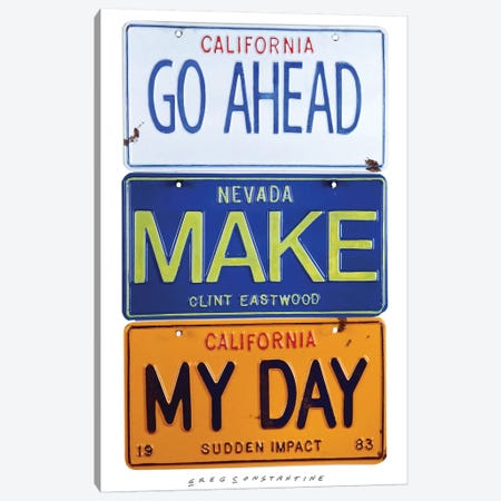Make My Day Canvas Print #GCO15} by Gregory Constantine Canvas Art