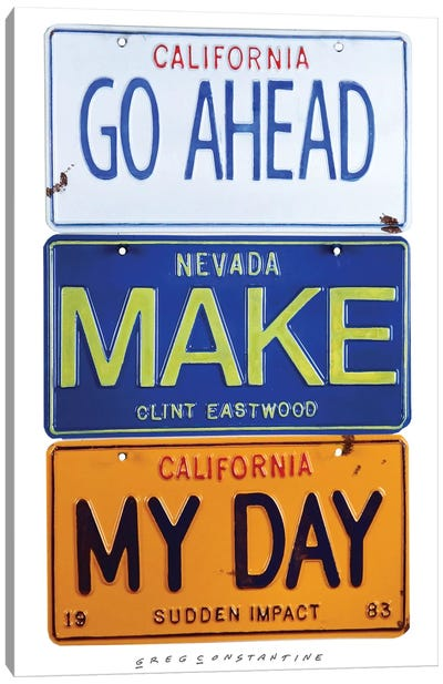 Make My Day Canvas Art Print