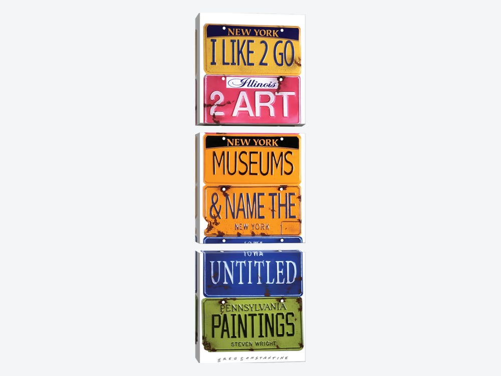 Name The Untitled Paintings 3-piece Art Print