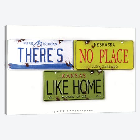 No Place Like Home 3-Piece Canvas #GCO21} by Gregory Constantine Canvas Wall Art