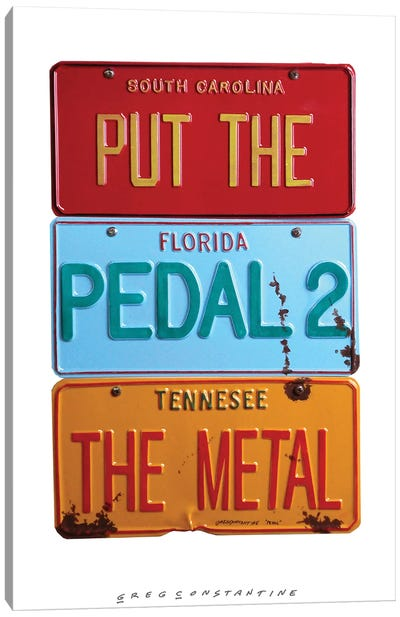 Pedal 2 The Metal Canvas Art Print