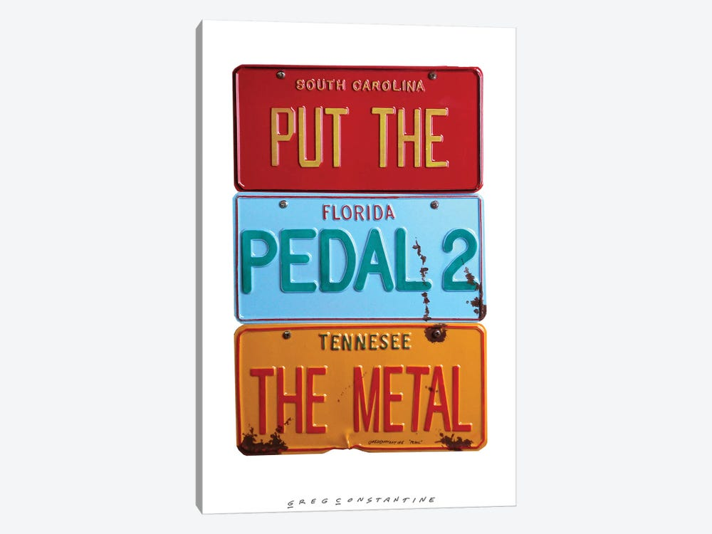 Pedal 2 The Metal by Gregory Constantine 1-piece Canvas Wall Art